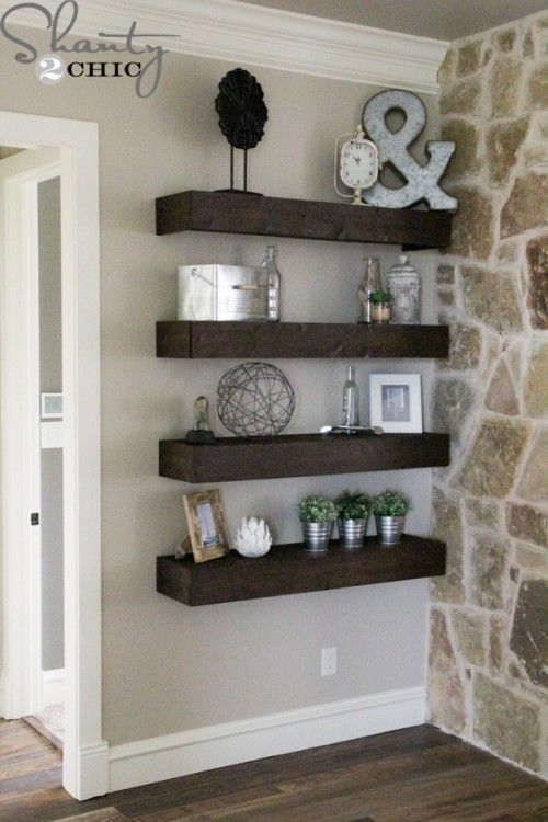 Unique Design Options For DIY Floating Shelves