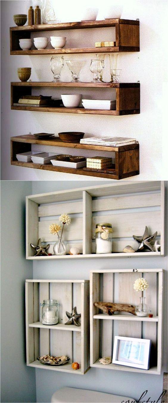 Unique design options for diy floating shelves top cool diy for Unique shelves diy